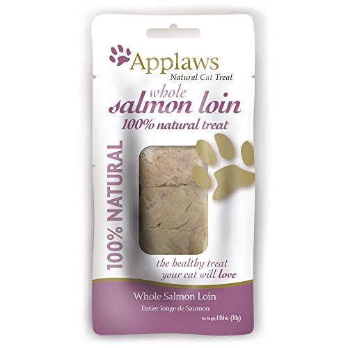 Applaws Premium Cat Treat Salmon Loin 1.06 oz, Additive Free, Healthy Cat Snack, Heart & Eye Health (12 Count)