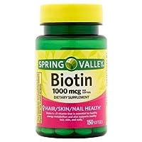 Spring Valley Biotin 1000 Mcg, 150ct (Pack of 3)
