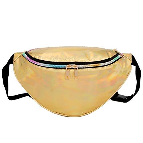 Easy Modern Pocket Fashion Laser Carry to Yellow Hexingshan Bag Yellow Waist Beach Hn0xTv