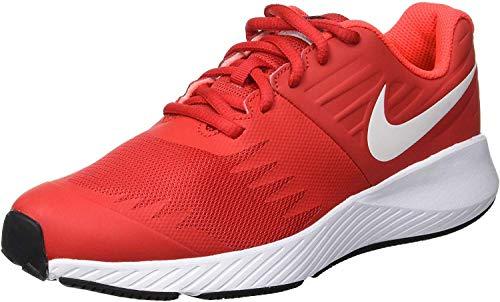 Nike Boy's Star Runner (GS) Running Shoe University Red/White/Black, 4 Big Kid