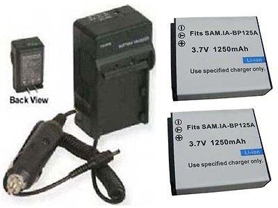 2つbp125 a電池+充電器for Samsung hmx-m20bp / EDC、SAMSUNG hmx-m20sp、SAMSUNG hmx-m20sp / XSH   B01DNACHMC