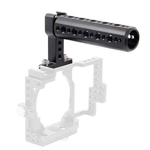 Camera Top Handle,FOTYRIG camera Cheese Handle Grip with Cold Shoe and 1/4'' 3/8'' Thread Mount for Digital Dslr Monitor, LED Light, Microphone, Magic Arm by FOTYRIG