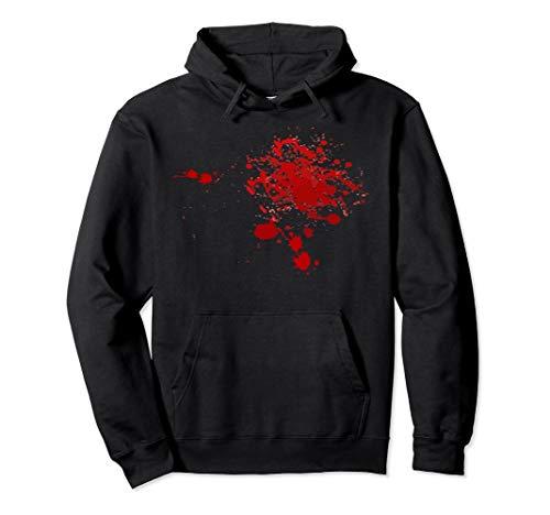 Fake Blood Splatter Hoodie Hooded Sweatshirt -