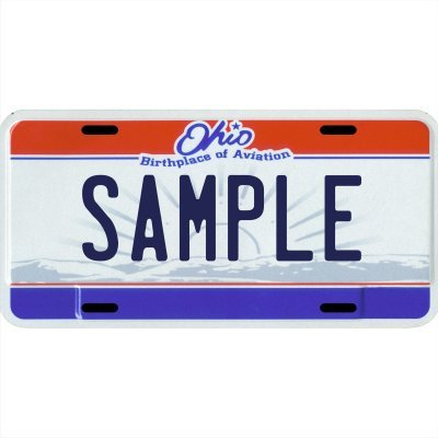 Your Name Your State Custom Metal License Plate - Choose from All 50 States (Ohio, 6'' x 12'' Standard Thickness (.030''))
