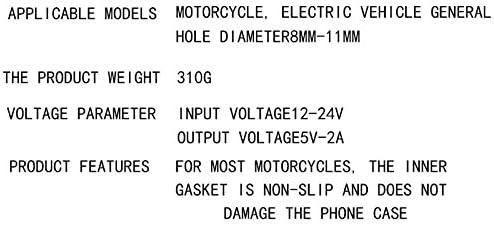 Motorcycle Phone Mount with USB Charger Grip Mobile Phone Holder GPS Navigation Bracket for Suzuki GSX-R 600 750 1000 GSX 1300R Hayabusa BMW S1000RR Yamaha YZF Kawasaki Ninja Honda CBR Accessories