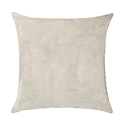 X-Large Sleeping Baby and Protective Dogs Please Do Not Knock or ring the doorbell Cotton Linen Throw Pillow covers Case Cushion Cover Sofa Decorative Square 18 inch X 18 inch