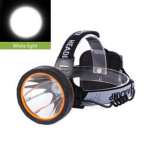 Hunting friends Separation Style LED Headlamp Rechargeable Head Lamp Waterproof Headlight Coon Hunting Lights for Outdoor (White light)