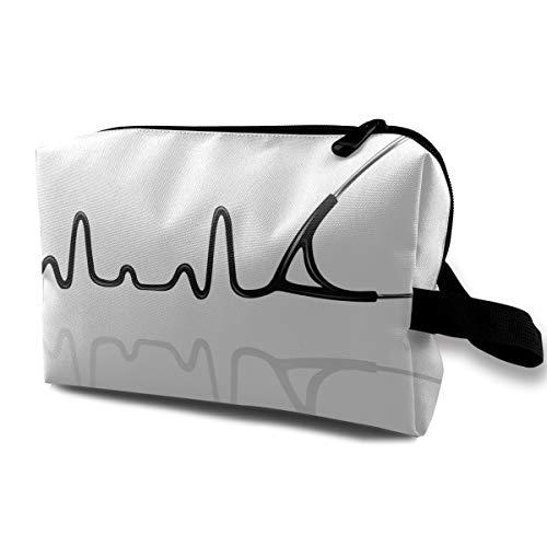 Cuff Tubing (Medical Stethoscope Cosmetic Bags Makeup Organizer Bag Pouch Zipper Purse Handbag Clutch Bag)