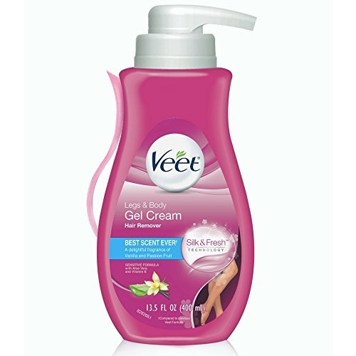 Veet Gel Hair Remover Cream, Sensitive Formula, 13.5 oz (Pack of 6)
