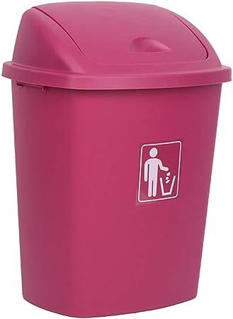 AZJGF Cubo de Basura Caja de Columpios casa jardín Cocina Basura Reciclaje plástico Basura contenedor Basura (Color : B, Size : 30L): Amazon.es: Hogar