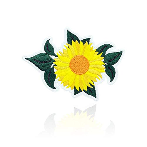 Patch Yellow T-shirt - Sunflower Patch Iron on & Sew Yellow Flower on Embroidered Applique Decoration DIY Craft for Tshirts, Denim Jackets, Hats, Bags