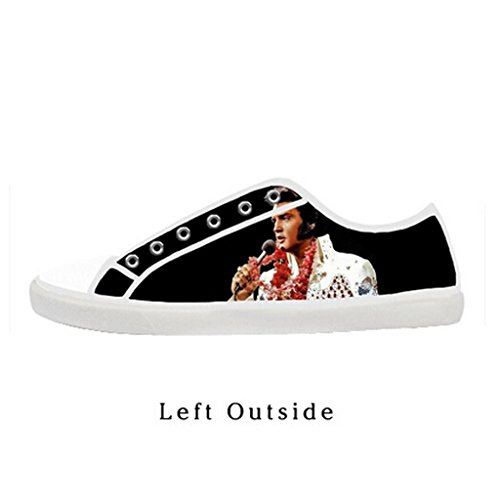 Elvis Shoes (Custom Women Elvis Presley Canvas Shoes Comfortable Sneakers US6)