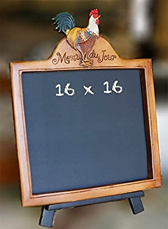 Amazon Com French Menu Du Jour Kitchen Chalkboard With Wood Stand Office Products