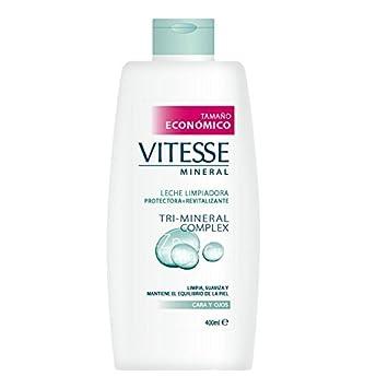 Vitesse Mineral - Leche limpiadora para cara y ojos - Tri-Mineral Complex - 400 ml: Amazon.es: Belleza