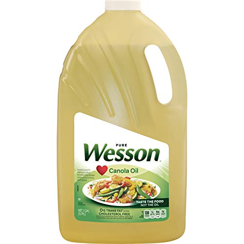 - PACK OF 5 - Wesson Pure Canola Oil, 1 Gal