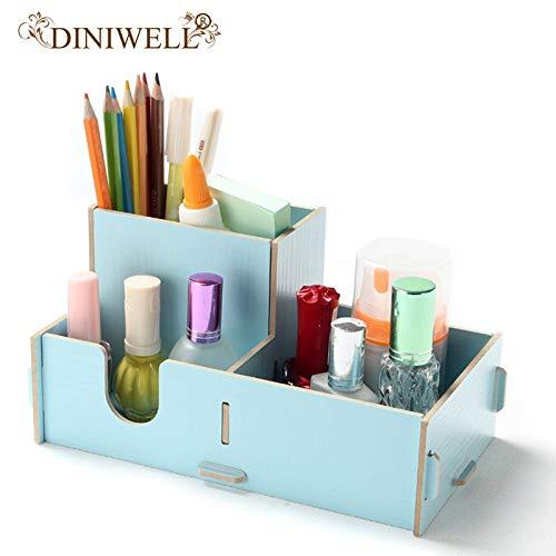Diy Desktop Jewelry Box Sundries Boxes Storage For Stationery Cosmetic Wooden Tyro Diniwell Shelf SpwqxIwZ5