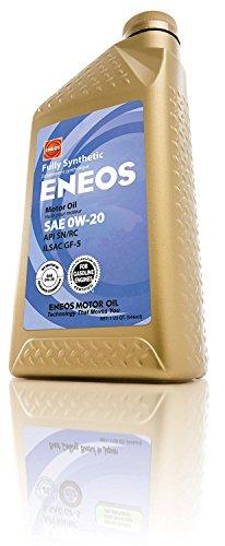 Oil Engine Eneos (Eneos (3230300) API SN/ILSAC GF-5 Certified 0W-20 Fully Synthetic Motor Oil - 1 Quart Bottle)