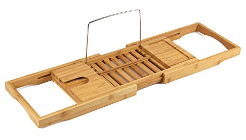 BAMBUROBA Bamboo Bathtub Organizer Extending product image