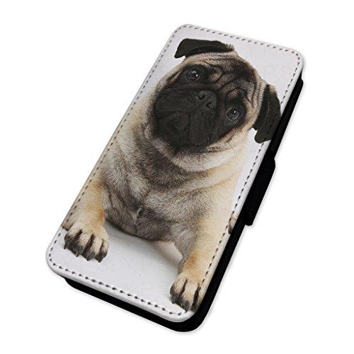 adorable Pug Dog–Custodia ad aletta in pelle cover Apple Iphone 7