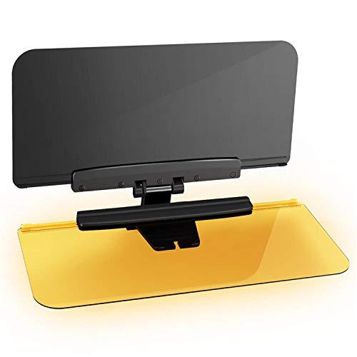 Automecar Car Sun Visor Anti-Glare Car Day and Night Anti-Glare 2 in 1 Transparent Universal Anti-Dazzle Sunshade Mirror Shield for Driving Goggles