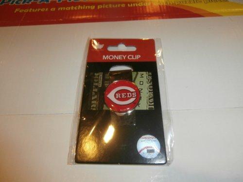 aminco MLB Cincinnati Reds Domed Money Clip
