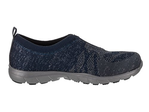 Mujer 22964 Navy Silver Skechers para Zapatillas CHdxt0qt