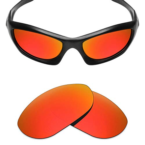 Mryok Polarized Replacement Lenses for Oakley Monster Dog - Fire Red