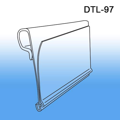 """Data-Tag Label Holder for Scan Plates on Metal Display Hooks by ClipStrip 