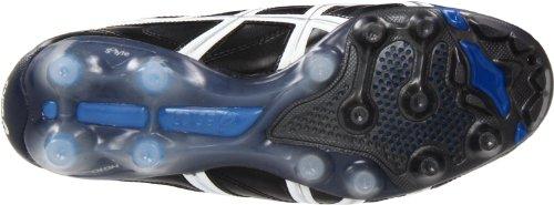 Asics Heren Dodelijke Tigreor 4 Is Voetbalschoen Zwart / Wit / Pacific Blue