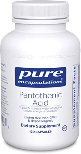 Pure Encapsulations – Pantothenic Acid – Hypoallergenic Supplement Supports Cellular Energy Production, Adrenal and Cardiovascular Health* – 120 Capsules Review
