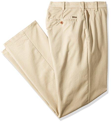 Izod Flat Front (IZOD Men's Big and Tall Performance Stretch Flat Front Pant, Cederwood Khaki, 54W X 30L)