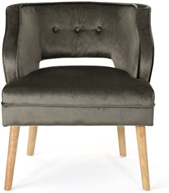 Cheap Christopher Knight Home Mariposa Mid-Century Velvet Accent Chair living room chair for sale