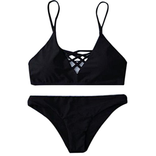 ee0f95cac58 NAFLEAP Women Removable Padded Cheeky Thong Bikini Swimwear Bathing Ties  Halter 2 Pieces Suit (XS (US Size 0-2)