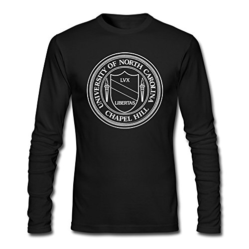 Men University Of North Carolina At Chapel Hill Seal Long Sleeve T-Shirt Black ()