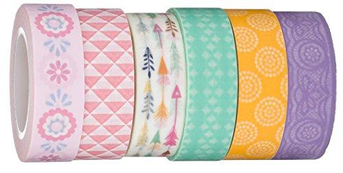 Washi Tape | Evermae Design Co. -- Pretty Pastel Premium Japanese Washi Tape, Set of 6 Rolls