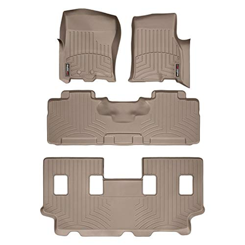 All Weather Weathertech FloorLiner for Expedition EL/Navigator L - 1st/2nd/3rd Row - Tan