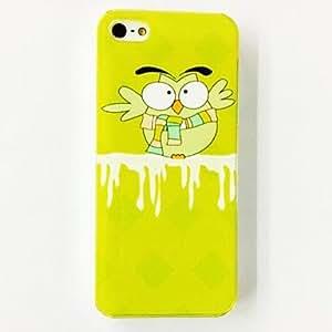 HC-Patrón encantador del buho Silenciador del estuche rígido de policarbonato para el iPhone 4/4S , Multicolor