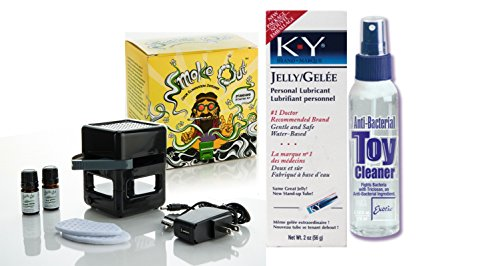 Bundle Package Of Smoke Out Odor Eliminating Diffuser DP And Anti-bacterial Toy Cleaner 4.3oz. And a K-Y Jelly 2oz. Tube by SI Novelties