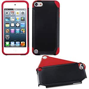 Frosted Fusion Case Cover for iPod touch 5th generation - Black/Red Frosted Fusion