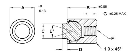 13 mm Dia x 14.5 mm Fairlane MBBU-1316-H Base Design Swivot Housing