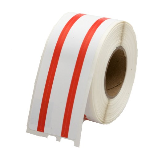 Red File Folder Labels (File Folder Labels 30327, Red Stripe 1 Roll Per Pack - Dymo Compatible 130 Labels Per Roll)
