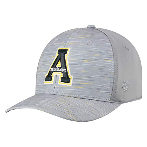 Top of the World Appalachian State Mountaineers Tow Gray Hyper Memory Fit Hat Cap