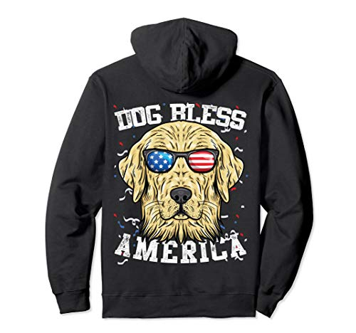 Bless America Golden Retriever - Golden Retriever Bless America 4th of July Funny Party Gifts Pullover Hoodie