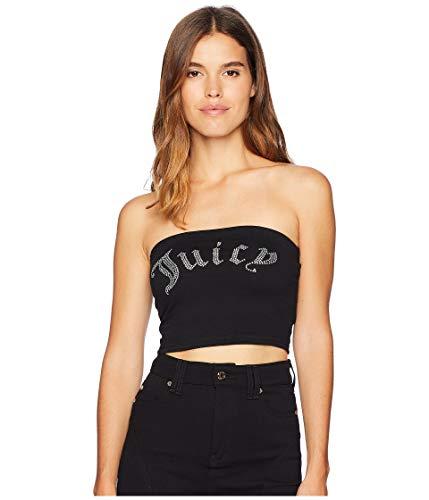 Juicy Couture Women's Knit Juicy Shrunken Tee Pitch Black (Juicy Womens Tees)