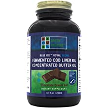 Green Pasture's Blue Ice Royal Butter Oil / Fermented Cod Liver Oil Blend - CHOCOLATE CREAM GEL - 8.1 fl.oz (240ml)