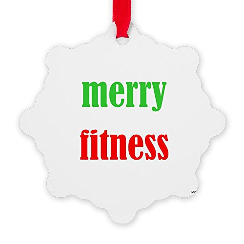CafePress - Merryfitness - Snowflake Ornament, Decorative Christmas Ornament