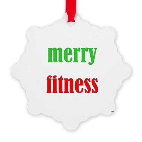 CafePress - Merryfitness - Snowflake Ornament, Decorative Christmas Ornament