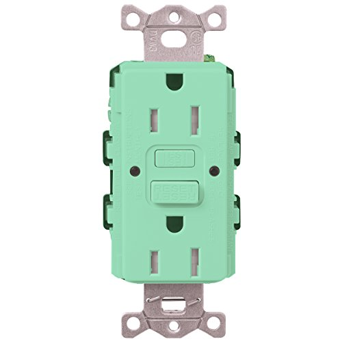 Lutron  SCR-20-GFST-SG  20-Amp  Tamper Resistant Self-Testing Receptacle, Sea Glass -  Lutron Electronics Company, Inc.