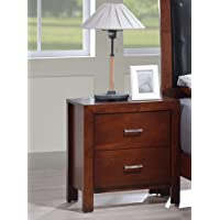 Best Quality Furniture B1200N B1200 Night Stand Cherry, Two Drawer