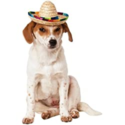 Rubies Costume Company Pet Sombrero Hat with Multicolor Trim, Small/Medium